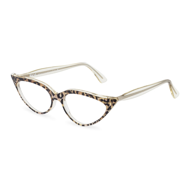 Retropeepers Jeanne Ocelot, 50's style cat eye glasses, side view