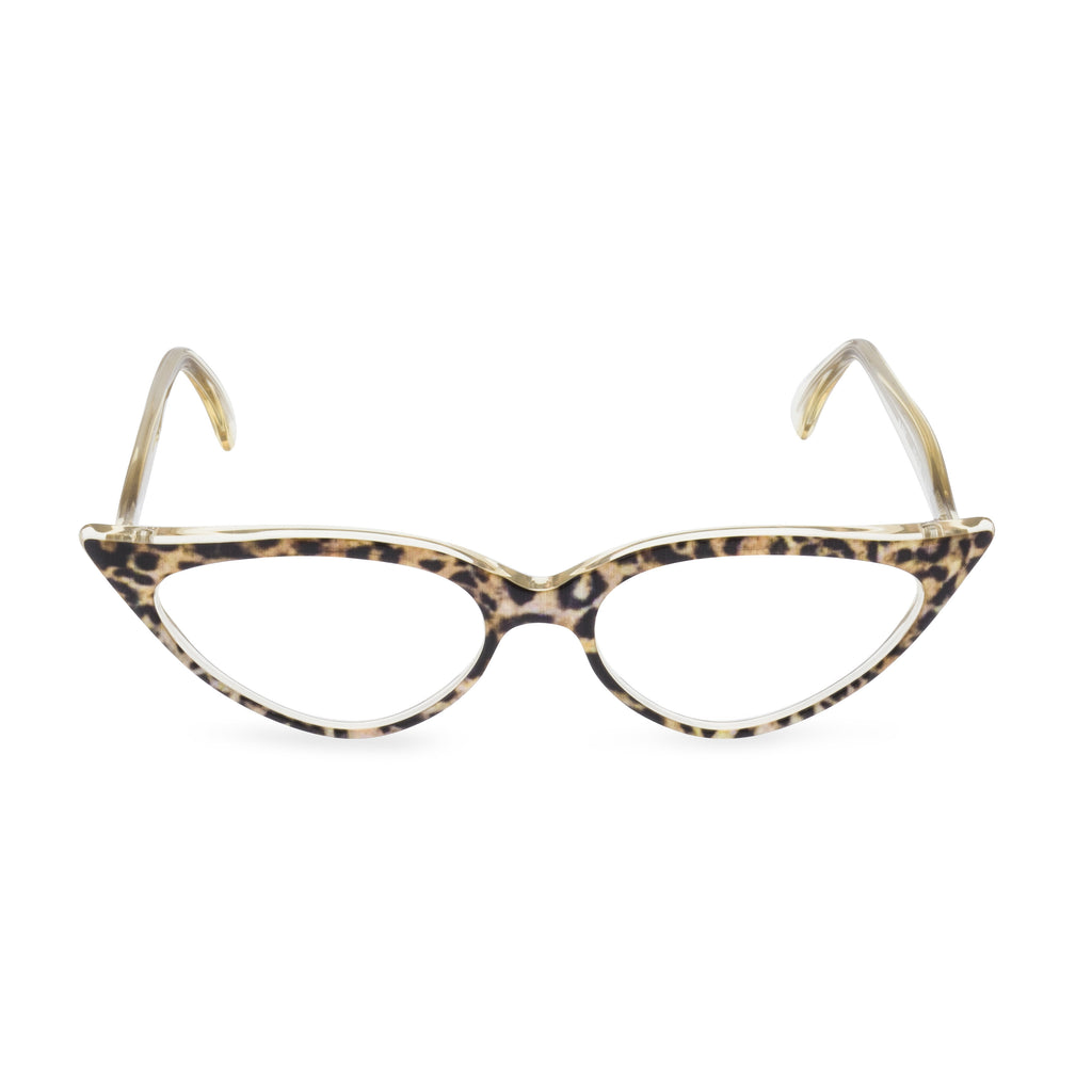 Retropeepers Jeanne Ocelot, 50's style cat eye glasses, front view