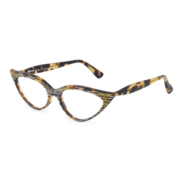 Retropeepers Jeanne Tiger Tortoiseshell, 50's style cat eye glasses, side view