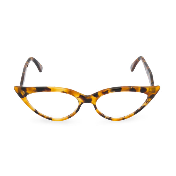 Retropeepers Jeanne Vintage Tortoiseshell, 50's style cat eye glasses, front view