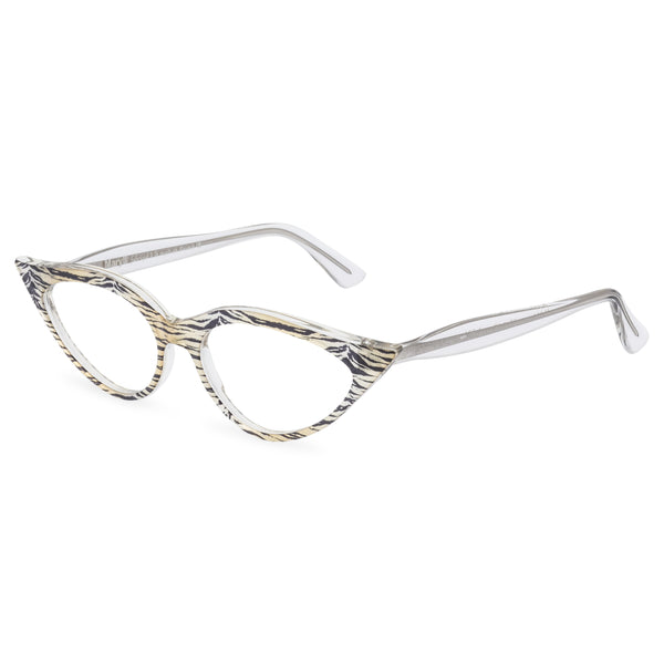 Retropeepers, Jeanne in Crystal Tiger, 50's style cat eye glasses, side view