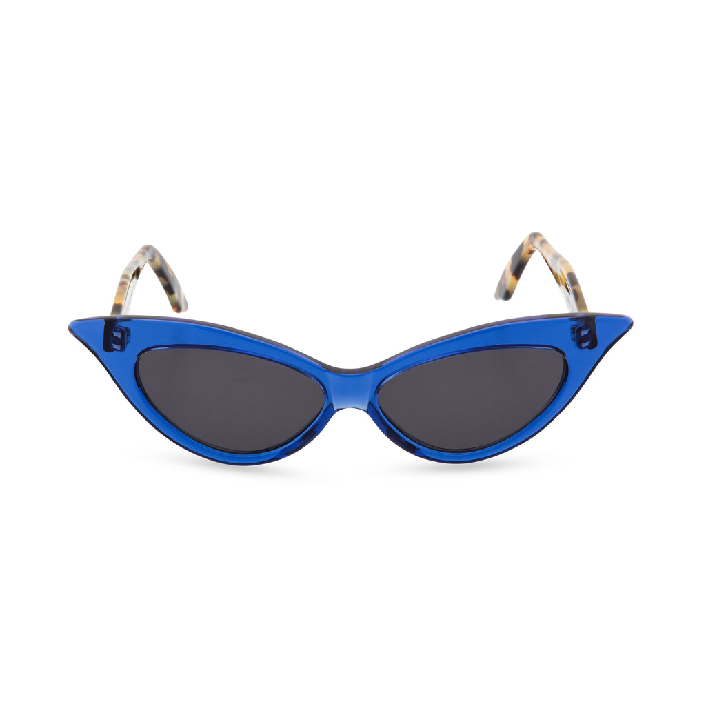 Juliette Cat Eye Sunglasses - Blue Crystal