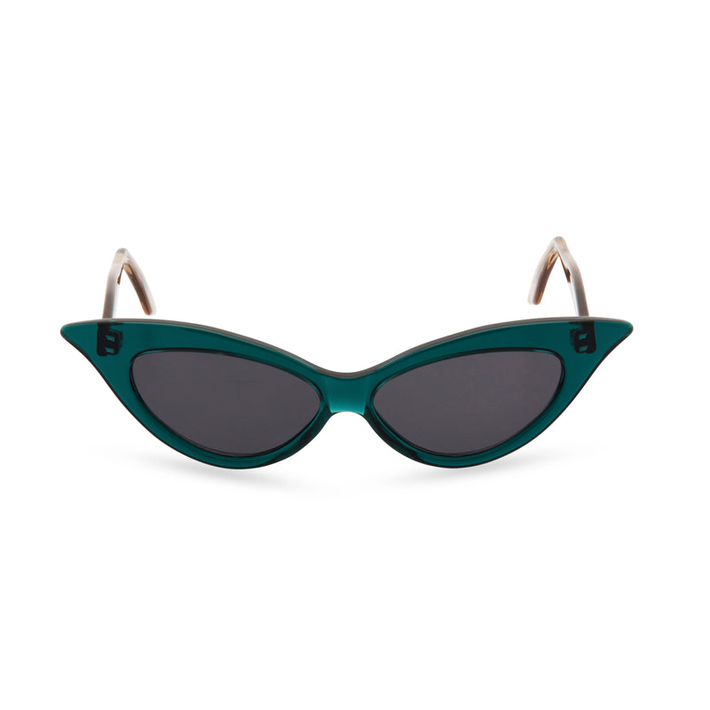 Juliette Cat Eye Sunglasses - Green Gold