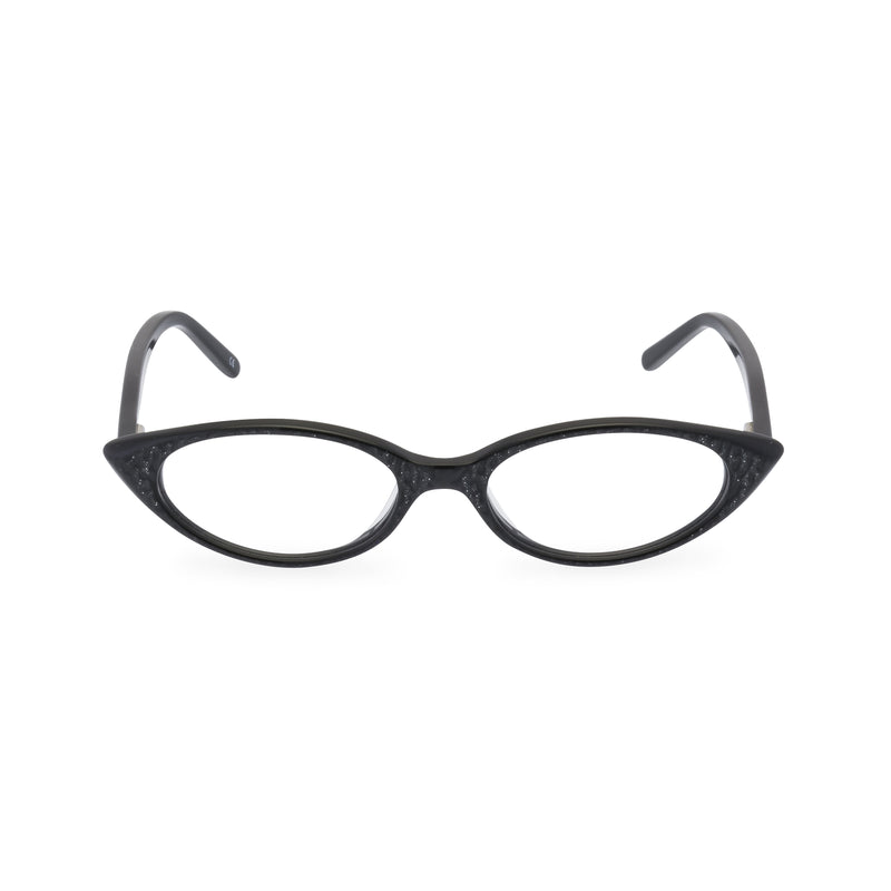 Katy Cat Eye Glasses - Charcoal Black