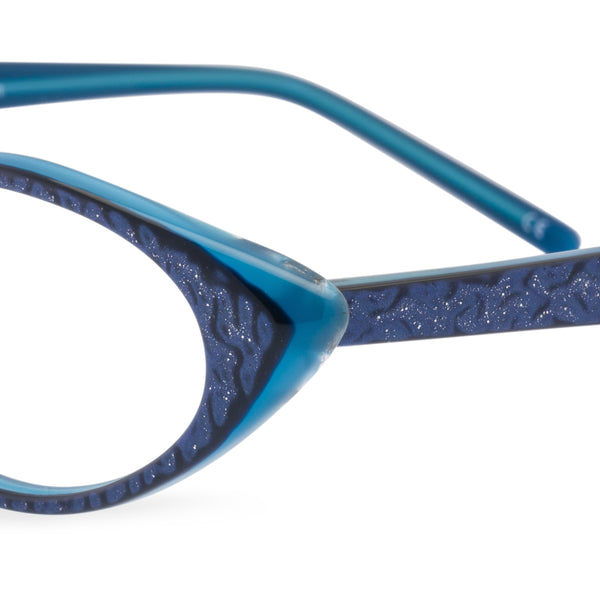 Katy Cat Eye Glasses - Royal Blue