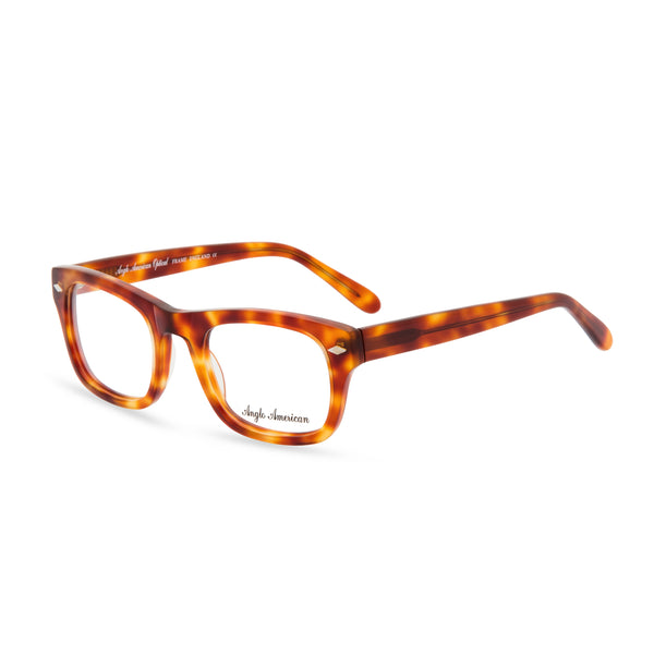 Anglo American Optical 'Knebworth' - Rectangular Glasses, Light Amber