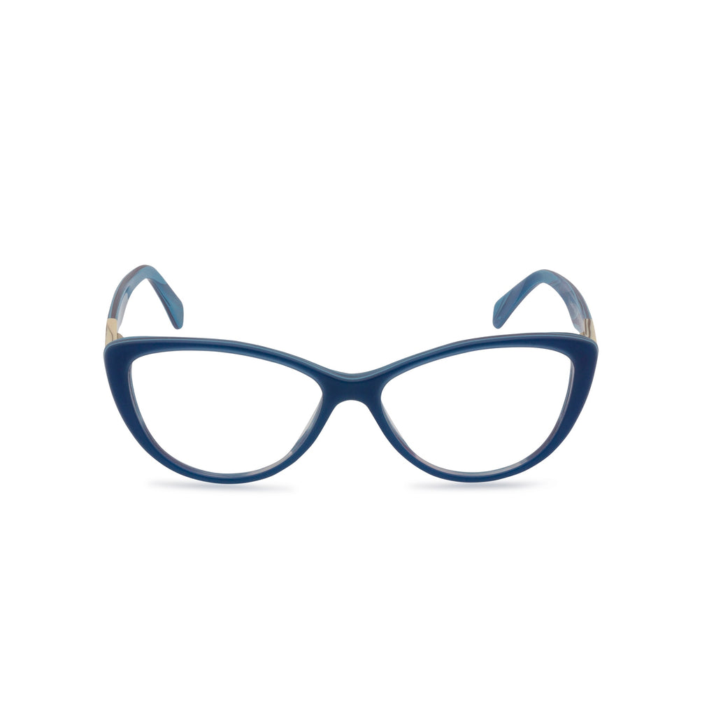 Lea blue glasses front