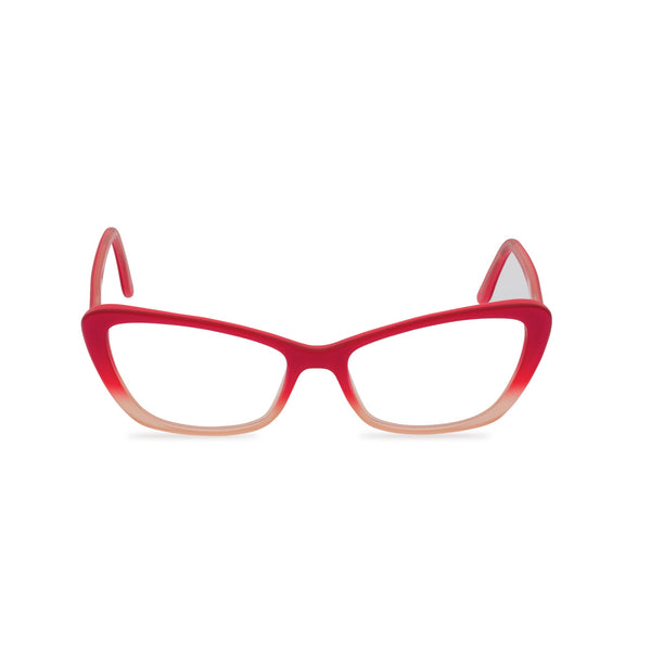 Loren pink glasses front