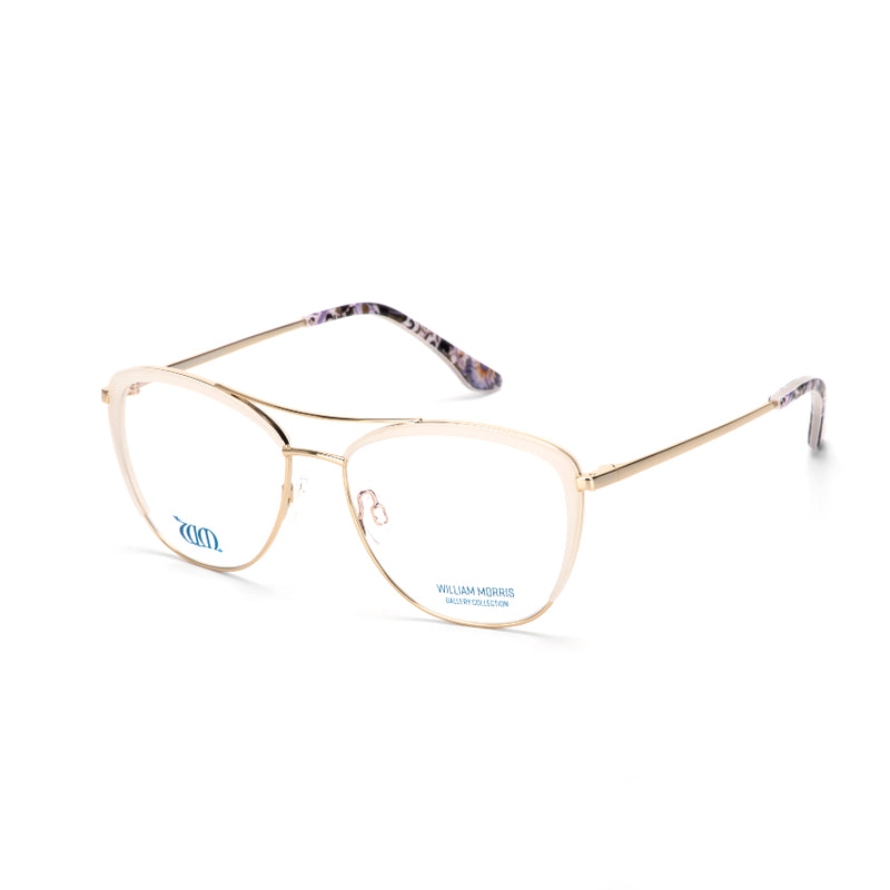 Lodden in cream from the William Morris Gallery Collection from the acetate range, side view