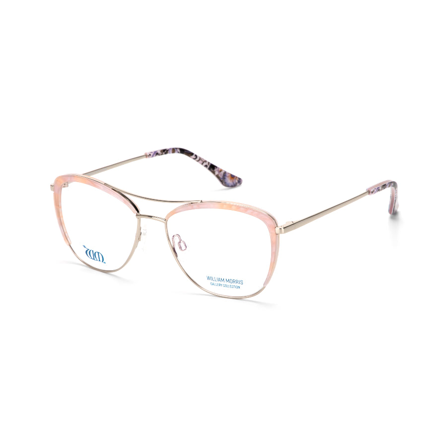Lodden cateye frame from the William Morris Gallery Collection acetate range. side view