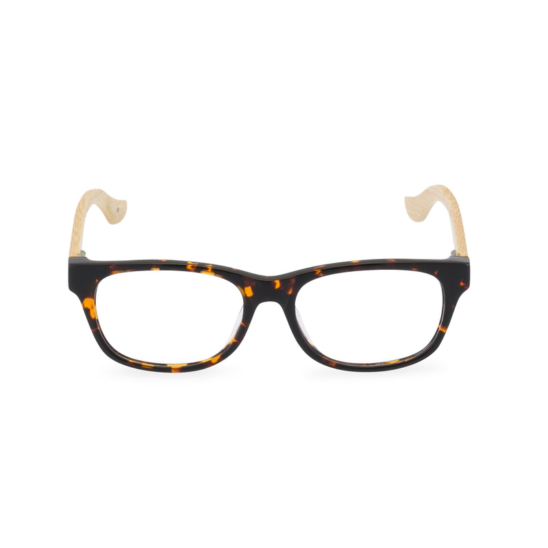 Mambo Rectangular Glasses - Cognac Amber