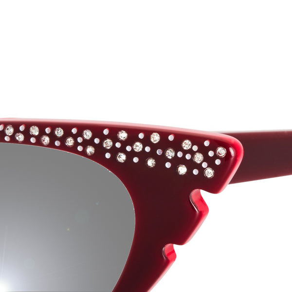 Marilyn Cat Eye Sunglasses - Wine Red