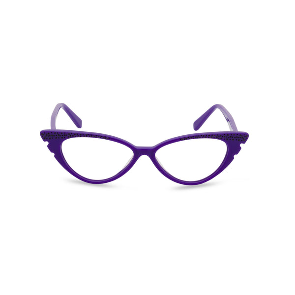 Marilyn Cat Eye Glasses - Purple