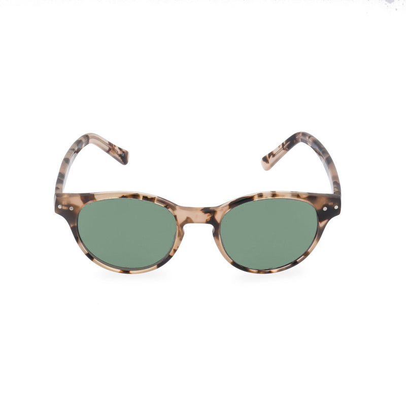 Miller Round Sunglasses - Vintage Brown / Green Tint