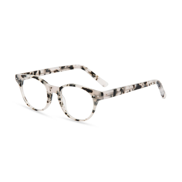 Miller Round Glasses - Grey Marble