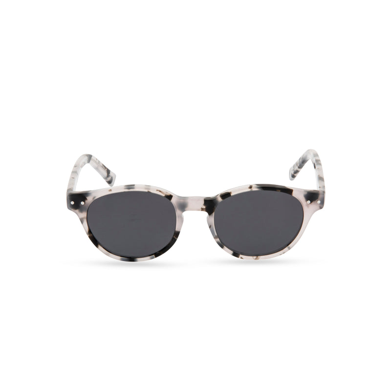 Miller Round Sunglasses - Grey Marble / Grey Tint