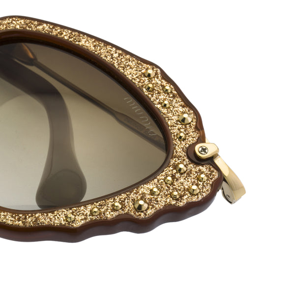 Miu Miu SMU04QS - Sunglasses Gold / Wine