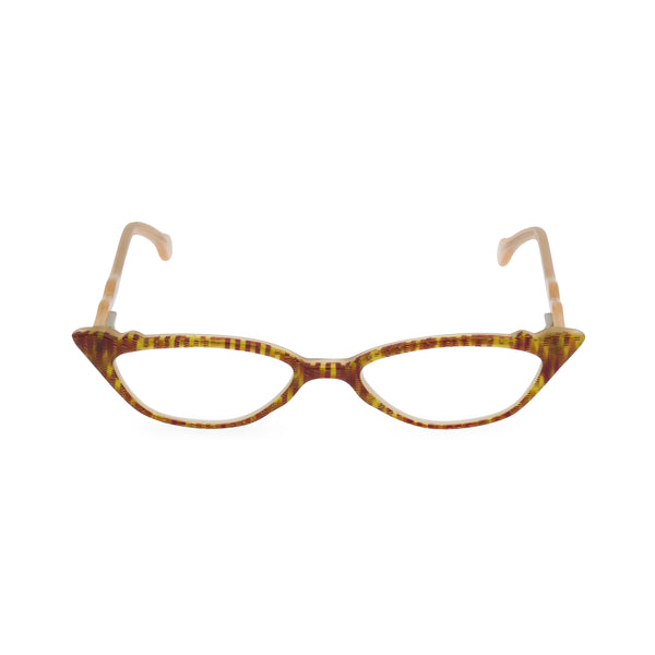 Ms Kitty Cat Eye Glasses - Red Zebra