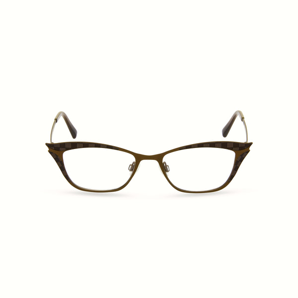 Nancy Cat Eye Glasses - Bronze