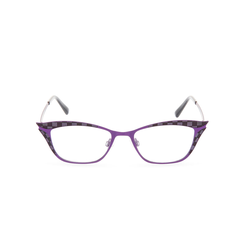 Nancy Cat Eye Glasses - Purple