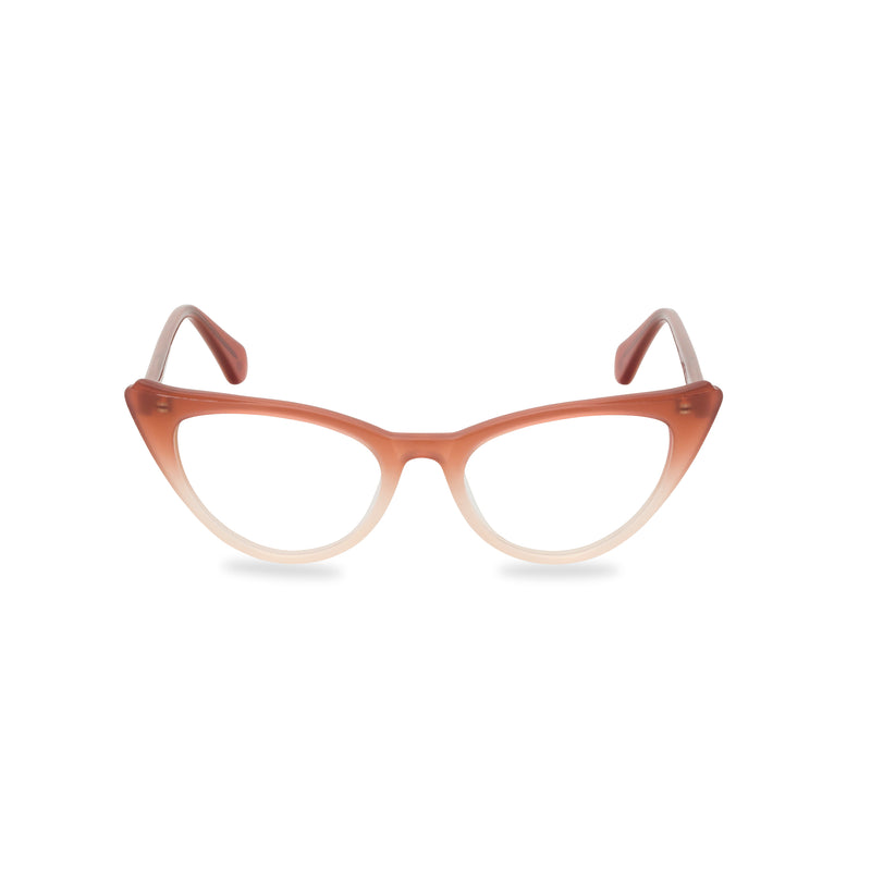 Natalie Cat Eye Glasses - Graduated Amber