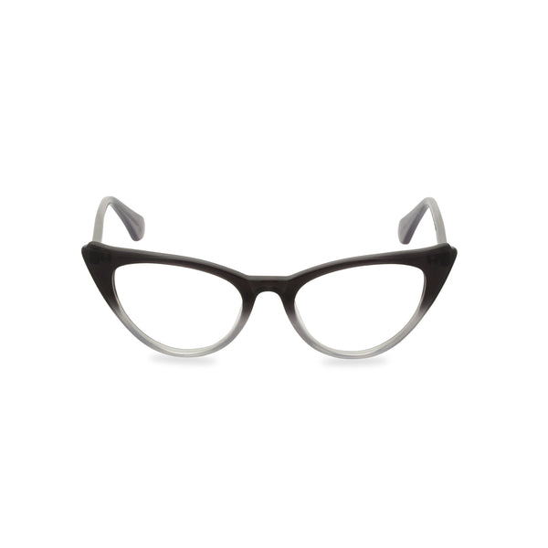 Natalie Cat Eye Glasses - Graduated Black Grey