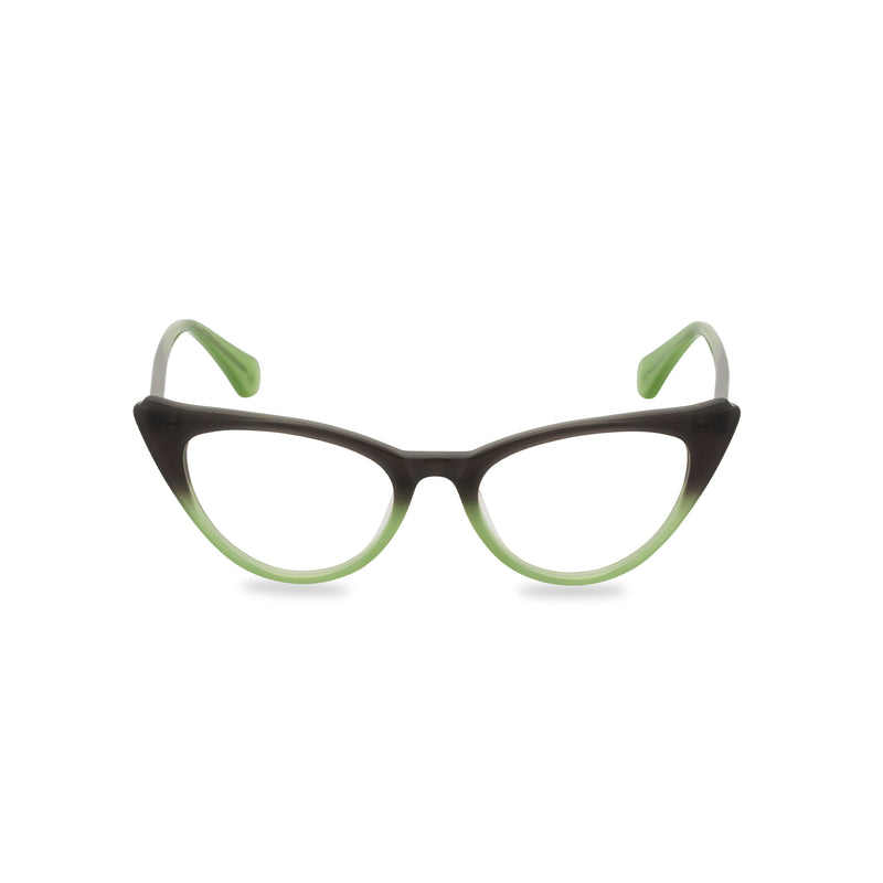 Natalie Cat Eye Glasses - Graduated Green