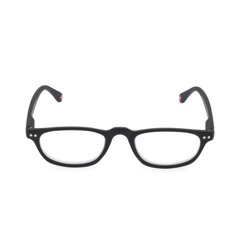 Peep Oval Glasses - Black