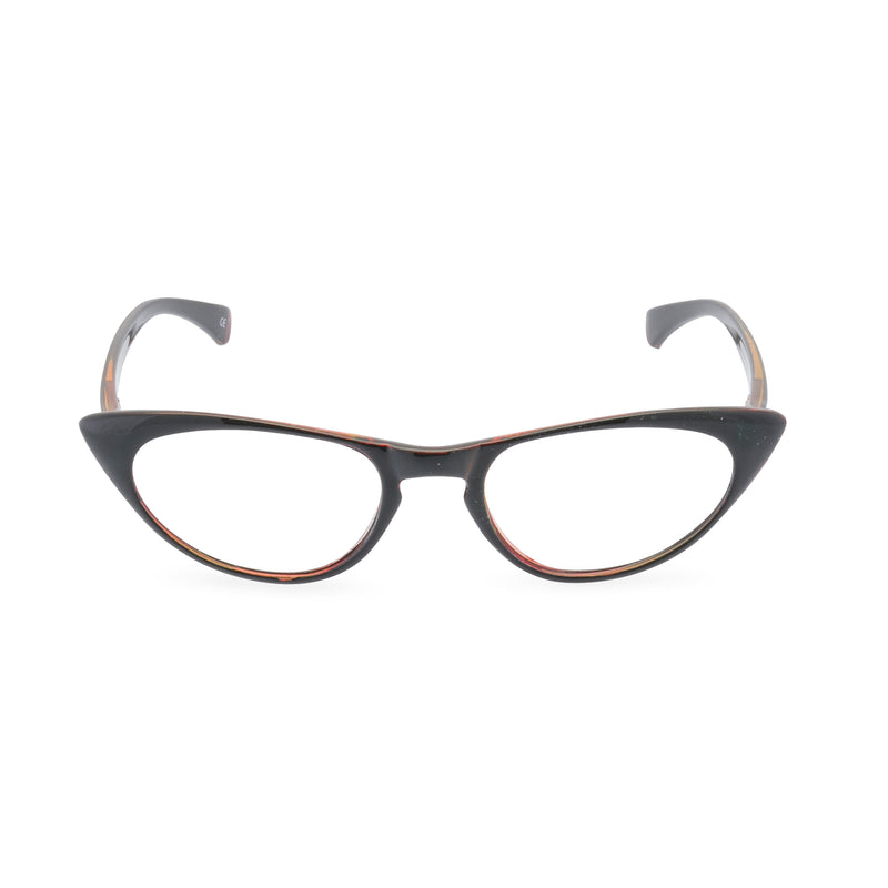 Peggy Cat Eye Glasses - Dark Chocolate Brown