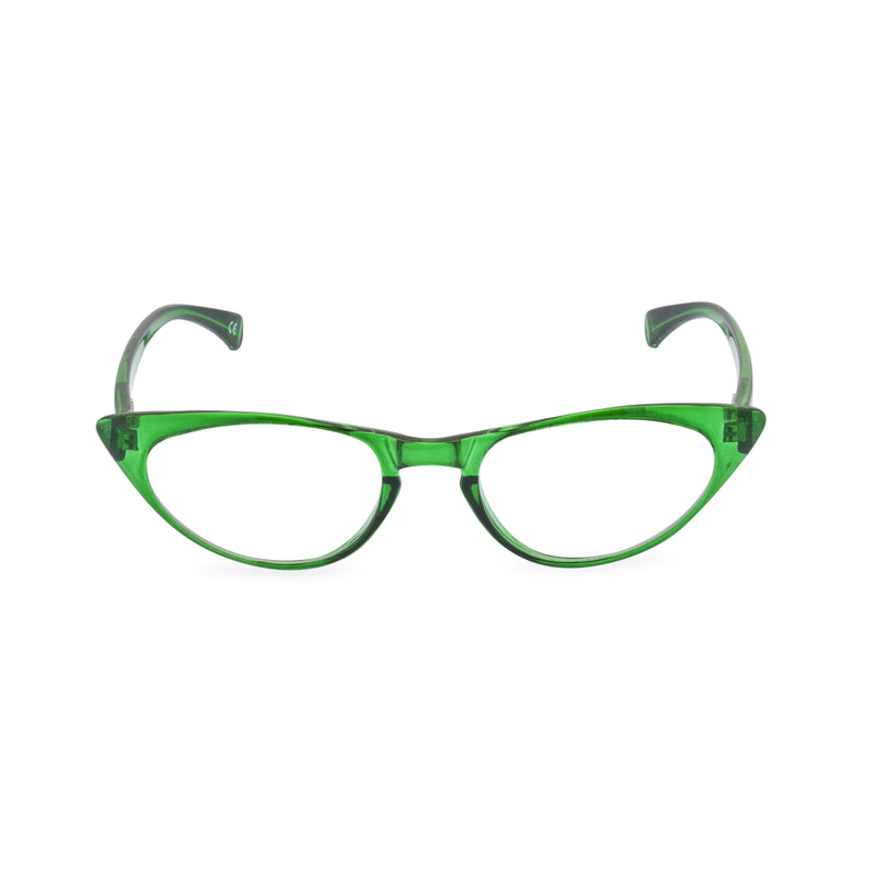 Peggy Cat Eye Glasses - Emerald