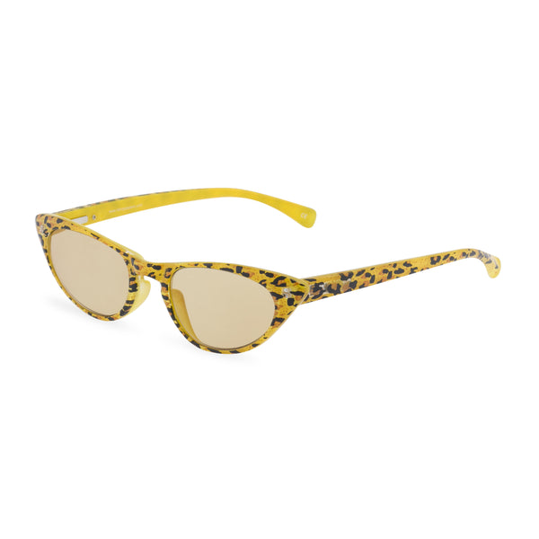 Peggy yellow leopard sunglasses side