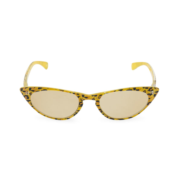 Peggy yellow leopard sunglasses front