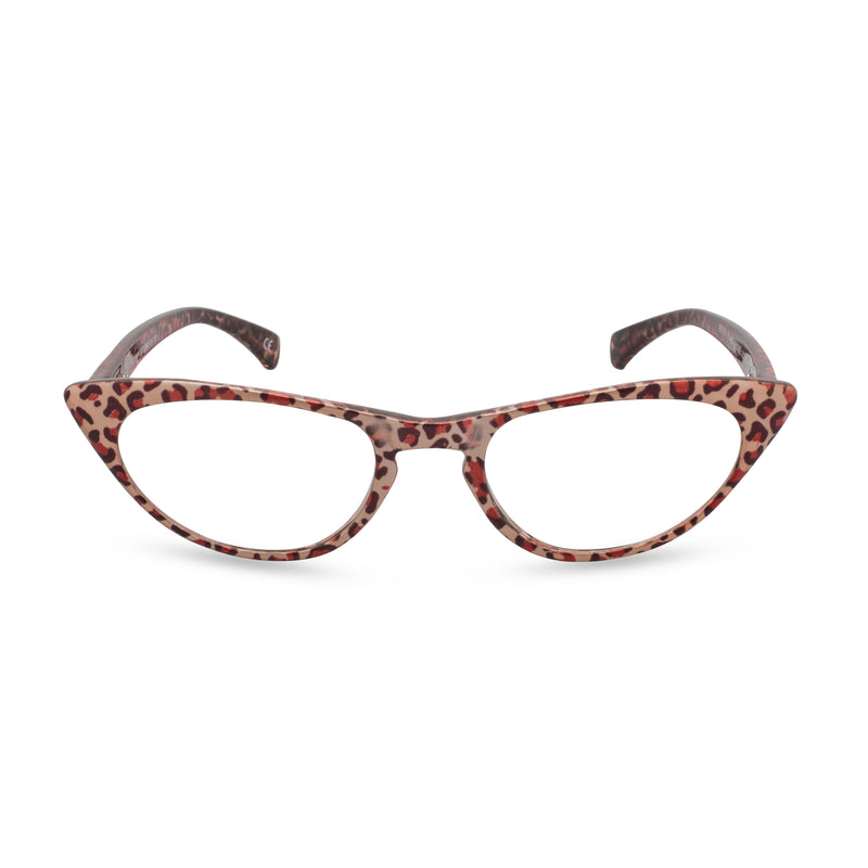 Peggy Cat Eye Glasses - Bronze Leopard