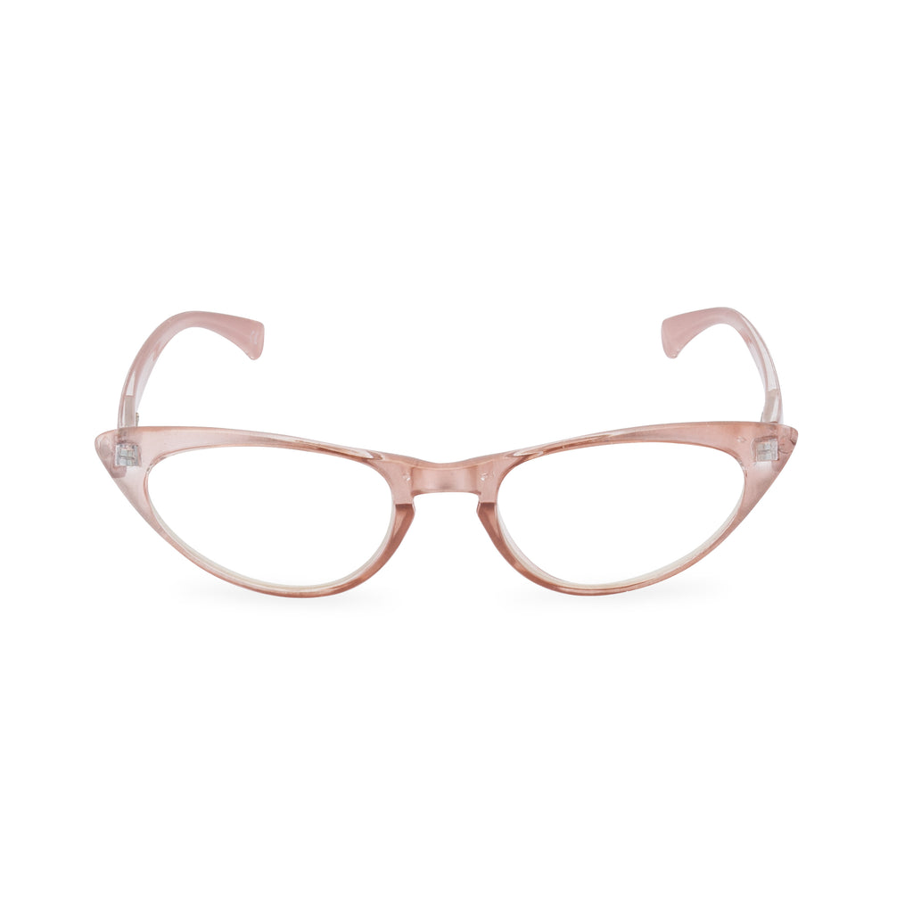 Peggy Cat Eye Glasses - Pink Pearl