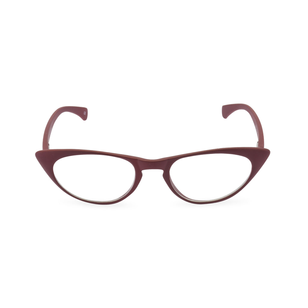 Peggy Cat Eye Glasses - Vamp Red