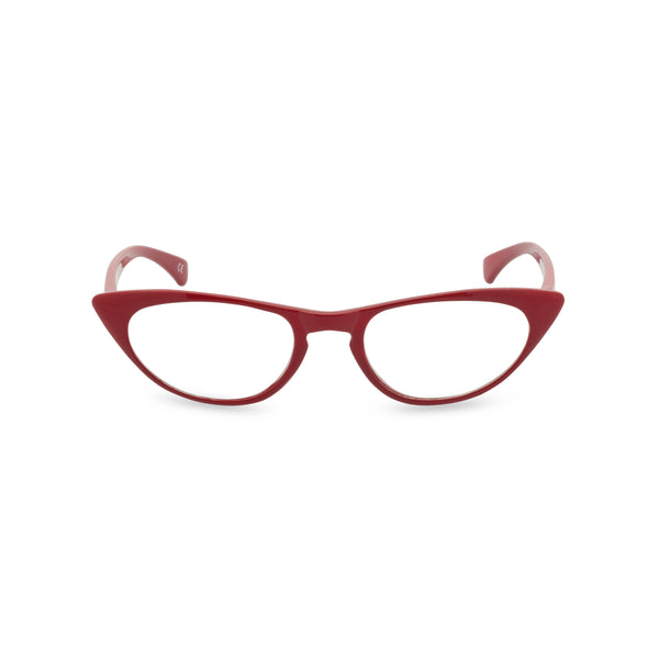Peggy Cat Eye Glasses - Lipstick Red
