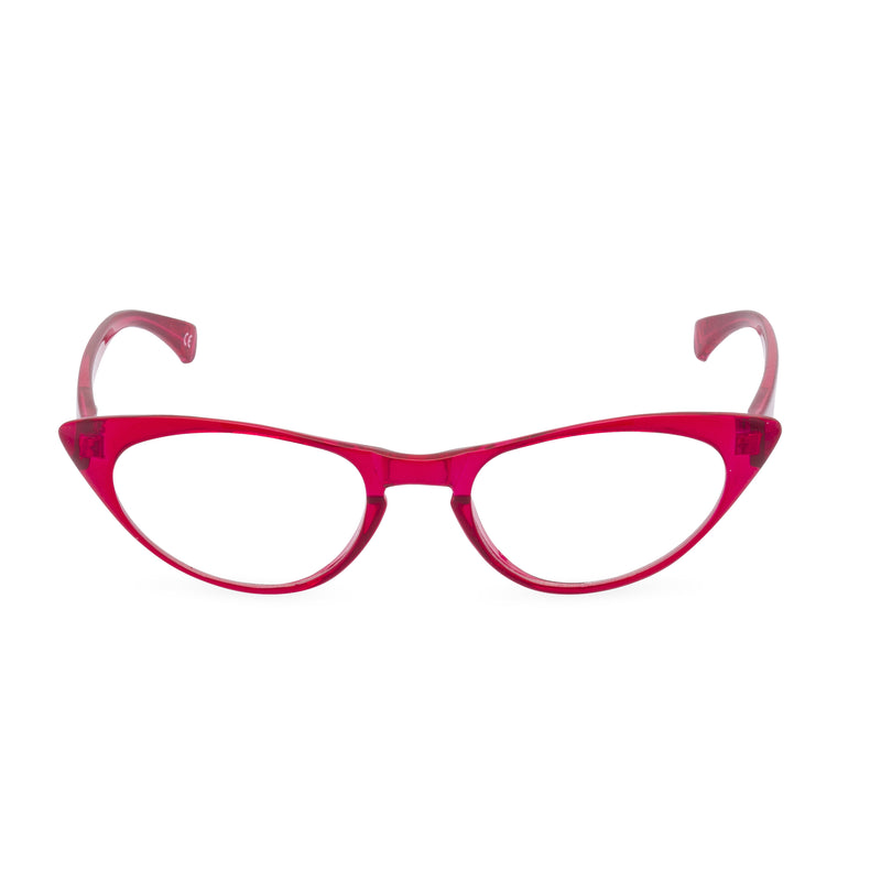 Peggy Cat Eye Glasses - Red Diamond