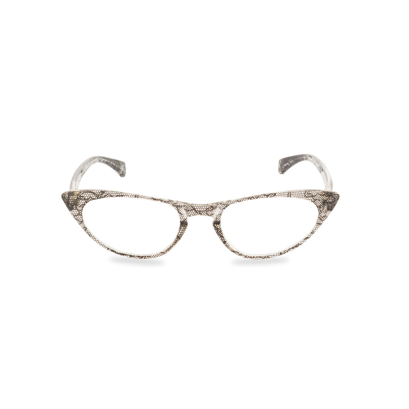 Peggy Cat Eye Glasses -  Black Lace