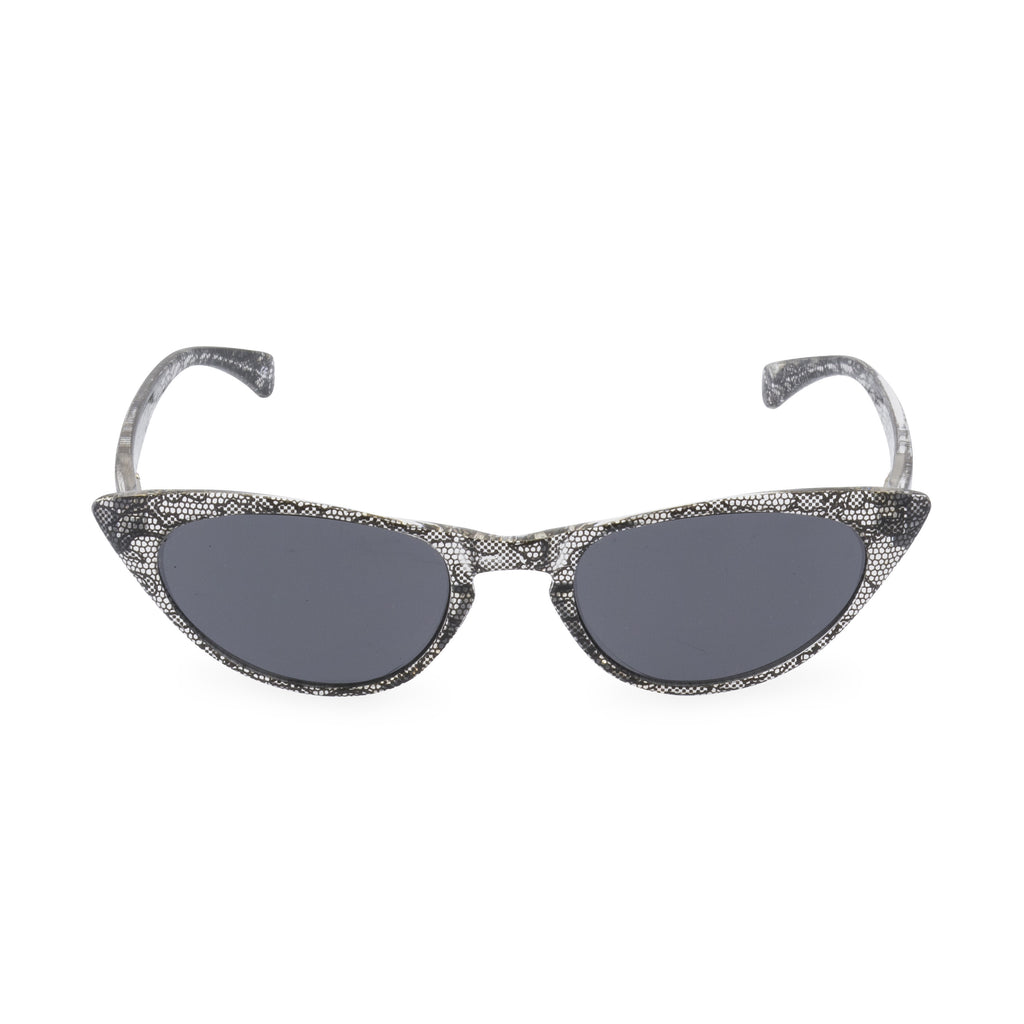 Peggy Cat Eye Sun Readers - Black Lace