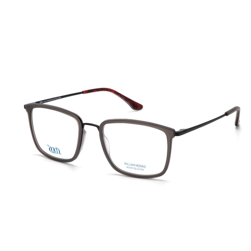 Poppy in grey from the acetate range of the William Morris Gallery Collection, side view