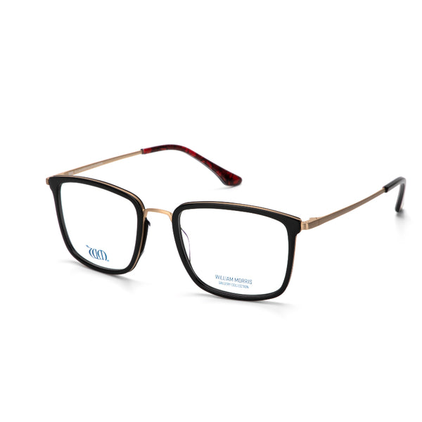 Poppy frames in black acetate from the William Morris Gallery Collection, side view