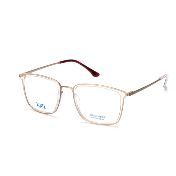 Poppy rectangular frames in crystal acetate from the William Morris Gallery Collection, side view