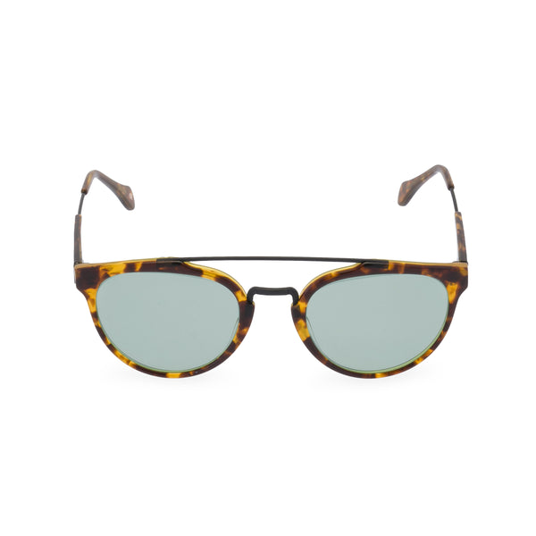Raffles sunglasses green font
