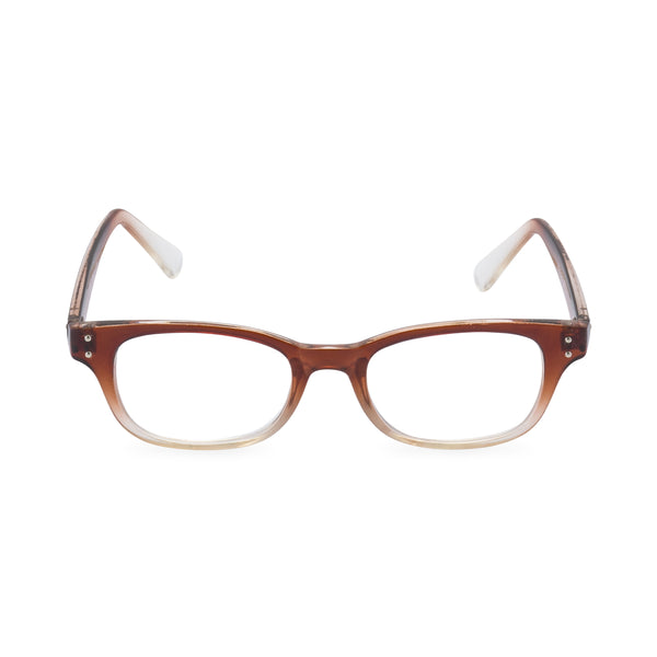 Roadhouse Blues Rectangular Glasses - Brown Fade