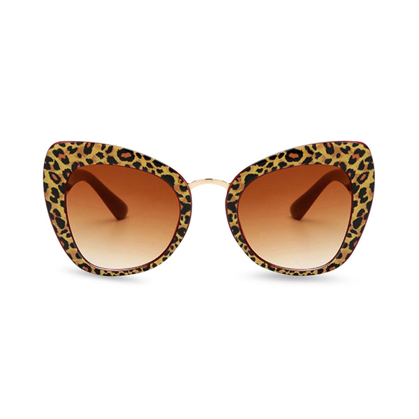 Safari Cat Eye Sunglasses - Leopard