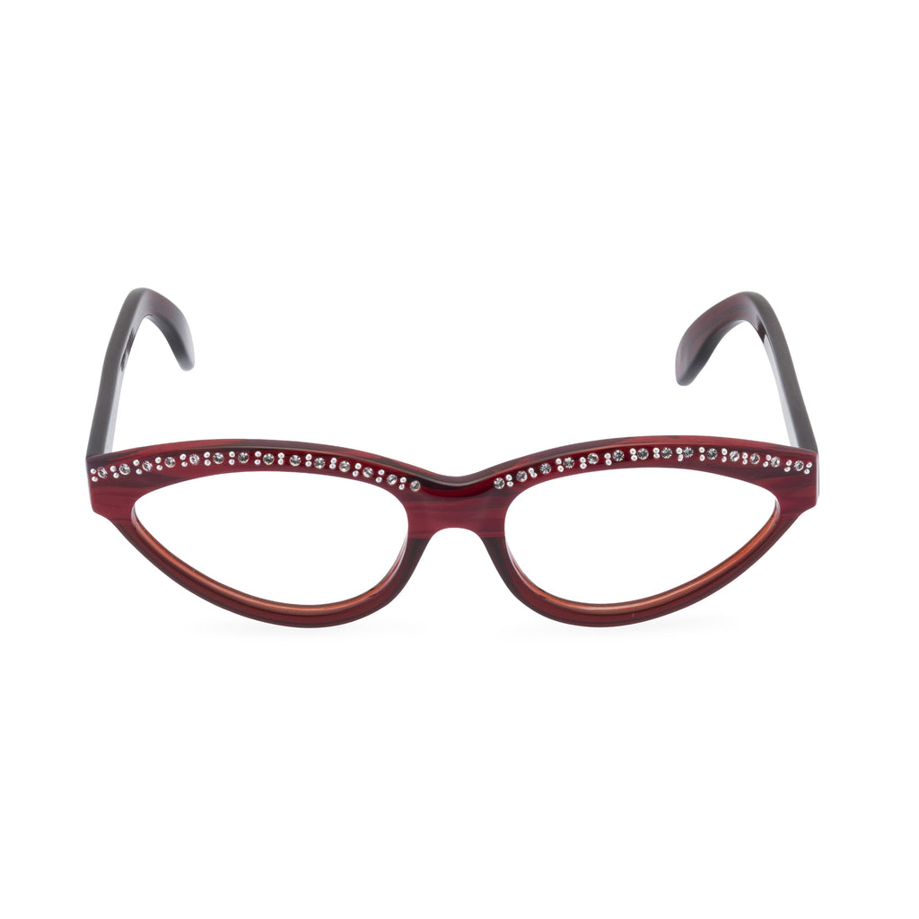 Sophia Cat Eye Glasses - Red