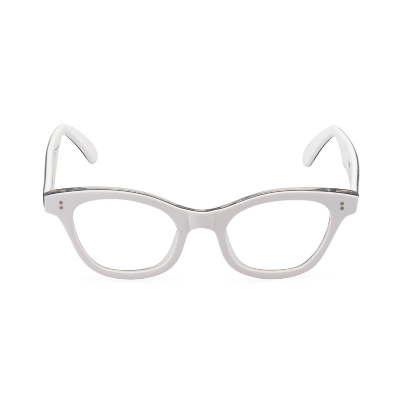 Sophisticat Cat Eye Glasses - White / Lace