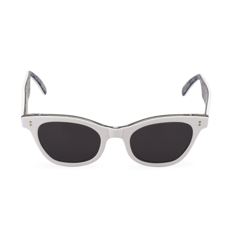 Sophisticat Cat Eye Sunglasses - White / Lace