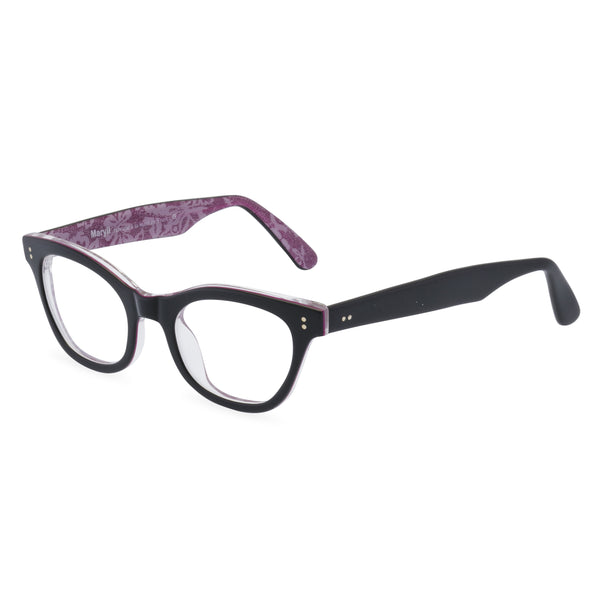 Sophisticat glasses black pink side