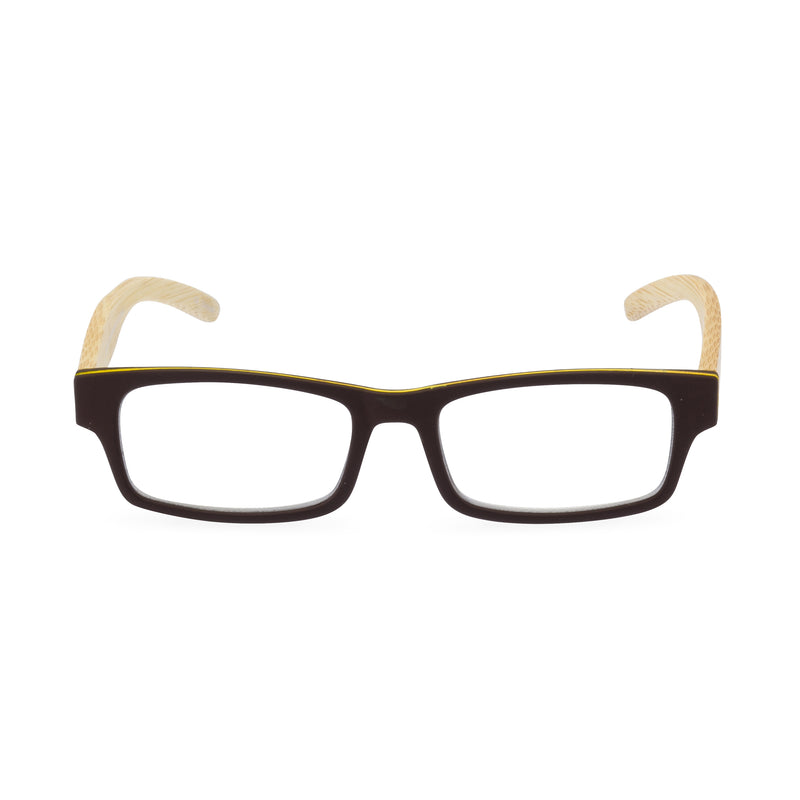 The Natural Rectangular Glasses - Brown / Yellow